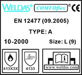 weldas-handschoenen-label